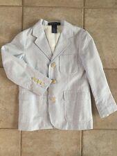 Perfect Boys 6 Polo Ralph Lauren Blue Cream Seersucker Easter Jacket Sport Coat