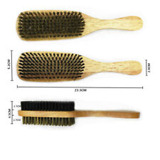 Hard and Soft Double Side Brush Boar Bristles Magic Collection Wood Hand Plastic