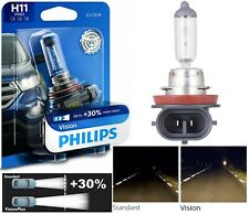 Philips VIsion 30% H11 55W One Bulb Head Light Low Beam Replace Upgrade Stock OE