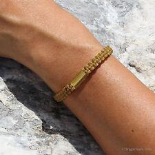 Authentic Blessed Thai Buddhist Wristband Handmade Karma Bracelet Bronze Gold UK