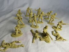 Matchbox WWII German Afrika Korp Toy Soldiers, (54MM) 15 in all 12 poses - Tan