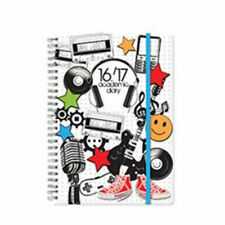 2016 2017 A5 Spiral Bound Page A Day Diary with PVC Cover