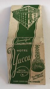 Old Matchbook Cover Hotel Yucca Raton NEw Mexico