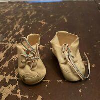 Vintage Dolshoe Doll Shoe White Vinyl Doll Shoes