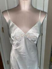 Victoria secret Ivory Long Satin Nightgown Sequins Lace bridal Lingerie M