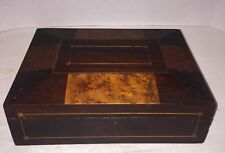 ANTIQUE DOCUMENT BOX OLD Burl Birdseye Maple Shaker Sewing Box