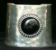 Armband Damen Indianer Silber Einstellbar Vintage Schwarz Harz Schmuck Ethno 4