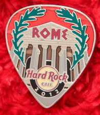 Hard Rock Cafe Pin ROME Postcard GUITAR PICK Series Coliseum facade logo