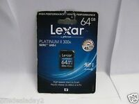 NEW SEALED Lexar Platinum II 300x SDXC 64GB UHS-I/U1 Class 10 Flash Memory Card