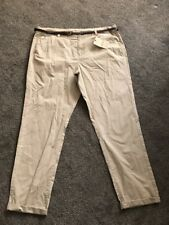 M&S 100% Cotton Neutral Chinos Trousers Size 18 Long Bnwt Free Same day Postage