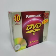 NEW Panasonic DVDR LM-RF120 10 pack Blank Media Disc 4.7 GB 120 minutes