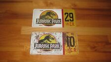 JURASSIC PARK Movie Prop License Plate,Custom sublimated tag-Pick New or Rustic!