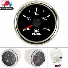 Universal 52mm Marine Fuel Level Gauge fit Motorcycle Car Truck Boat 7 Color LED
