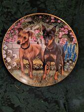 Playful Pins Patricia Bourque Collective Plate Danbury Miniature Pinscher Dogs