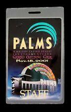 Palms Casino Resort Grand Opening Gala Nov.15,2001 Staff Laminated Pass