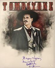 VAL KILMER SIGNED DOC HOLLIDAY 16X20 PHOTO TOMBSTONE JSA WITNESS COA 2