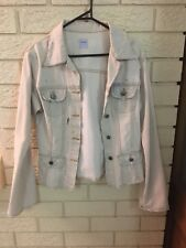 Sass and Bide - Cream Stonewash Denim Jacket-size 10