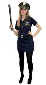 New Adult Police Women Costume Ladies Cop Uniform Fancy Dress Hen Party Outfit