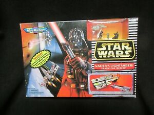 VADER'S LIGHTSABER/DEATH STAR TRENCH NIB STAR WARS 1996 GALOOB MICRO MACHINES