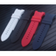 31mm  Unisex Red Silicone Watch Strap Band For Armani Exchange AX Series L111