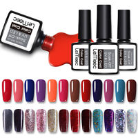 12ml LEMOOC Nail UV Gel Polish Glitter Sequins Soak off Gel Varnish Nail Art DIY