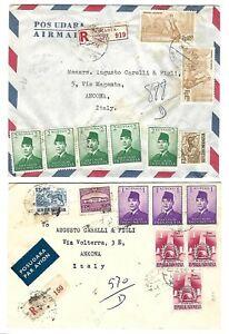 INDONESIA 1961 2 REGISTERED COVERS DJAKARTA TO ANCONA ITALY YUGOSLAV EMBASSY