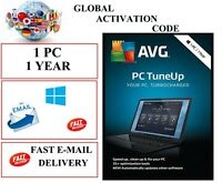AVG PC TUNE UP 2021 1 PC 1 YEAR EU / DE / GLOBAL KEY CODE (EMAIL DOWNLOAD)