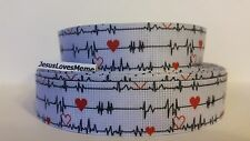 """Grosgrain Ribbon, Heart Healthy Awareness, Medical Condition, Red Hearts, 1"""""""