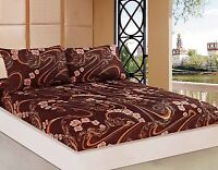 Tache 2-3 PC Melted Gold Brown Paisley Floral Rose Pink Floral Fitted Sheet Only