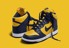 Nike Dunk Retro QS Michigan Wolverine SZ 9 Yellow Gold Navy Blue 850477-700