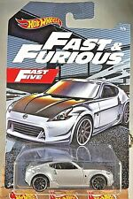 2019 Hot Wheels Fast & Furious Series 5/6 NISSAN 370Z Silver w/Black 10 Spokes
