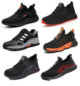 Mens Womens Lightweight Safety Trainers Steel Toe cap Work Shoes Hiking boots UK