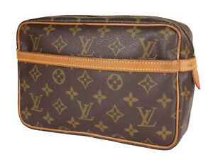LOUIS VUITTON Compiegne 23 Monogram Canvas Pouch Clutch Bag LP3876
