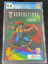 Generations The Unworthy Thor & The Mighty Thor #1 CGC 9.8 2017 Kirby Cover A176