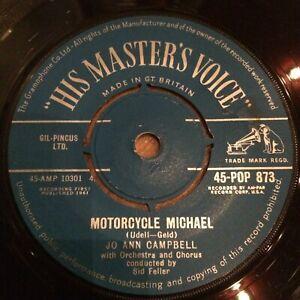 HEAR 1961 POP ROCK'N'ROLL - JO ANN CAMPBELL - MOTORCYCLE MICHAEL - UK HMV