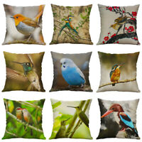 Bird Case Cotton For Cushion New Pillow Linen Cover hummingbird Home Sofa Decor