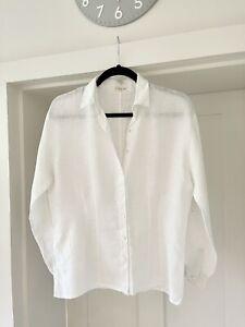 """Jigsaw White Linen Shirt Size S? - Armpit to armpit 21"""""""