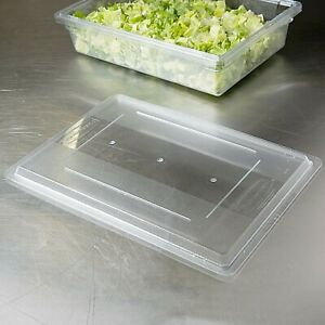 """Lot of 5 Rubbermaid 3302 18""""x26"""" Clear Food Storage Box Lid  fits CAMBRO"""