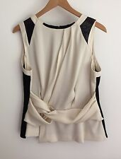 Karen Millen Ladies Top Size 16 Brand New with Tags Champagne and Black