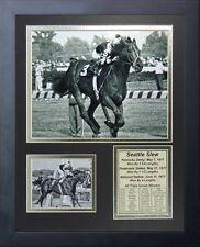 11x14 FRAMED SEATTLE SLEW 8X10 PHOTO 1977 TRIPLE CROWN WINNER JEAN CRUGUET