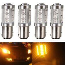 4XAmber Yellow Orange 1157 BAY15D LED Strobe light  Brake Turn Signal Rear Bulb