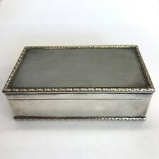 Fine Solid Silver Garrard Co Table Snuff Box 8.5cm X 5cm X 2.6cm Gold Border