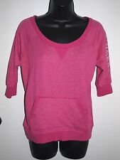Guess Size Small Oversized Womens Pink Sparkle Sweater 3/4 Sleeves