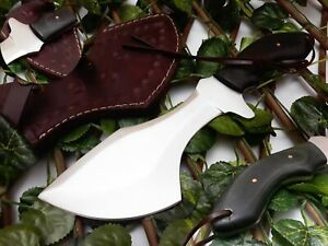 BEST QUALITY HANDMADE STAINLESS STEEL HUNTING KNIFE WITH MICARTA SHEATH HANDLE