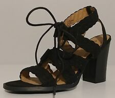 "NEW!! Diba Black Suede Sandals 3.5"" Block Heel Size 7.5M US 37.5M EUR"