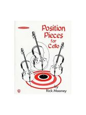 Rick Mooney Position Pieces 1 Cello Learn to Play Present MUSIC BOOK Cello