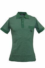 Men's Polo Neck Slim Cotton Striped Casual Shirts & Tops