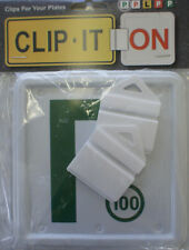 Clip It On P Plate Clips Car Number Licence Plate:2 Piece Green P Set (NSW Only)