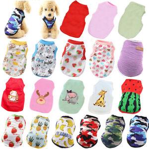 Various Pet Clothes Puppy Small Dog Cat Fruits Print Vest T Shirt Apparel Outfit