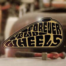 Forever Two Wheels Sticker Adhesivo autocollante pegatina Bobber Gold 90mm